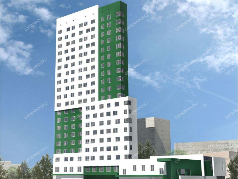 трёхкомнатная квартира в новостройке на улице Сазанова