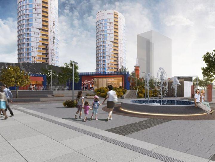Новая площадь перед канатной дорогой: навес, фонтан и «тропа здоровья»