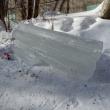 В Дзержинске на женщину рухнула глыба льда